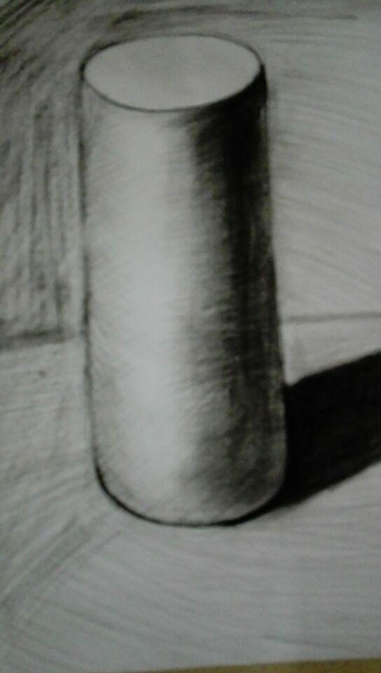 素描圆柱体