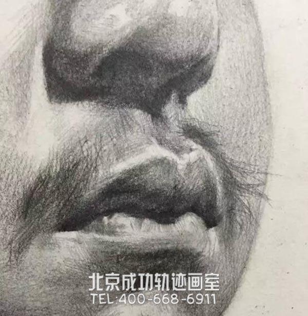素描中3/4素描男生头像怎样画?